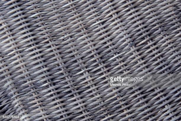 closeup of weathered rattan