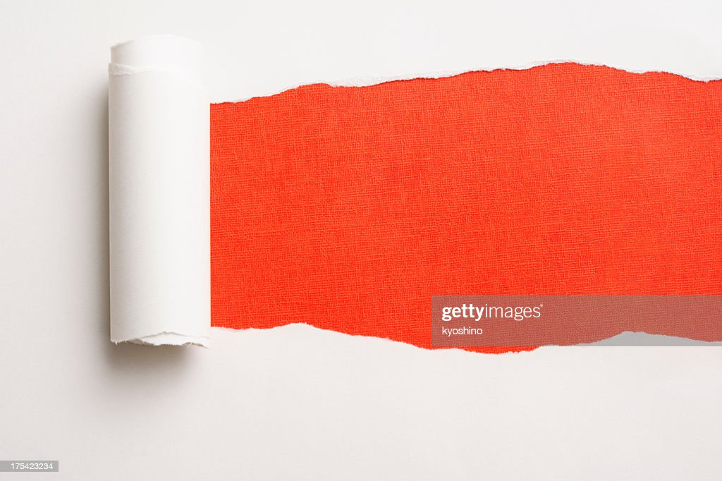 Torn Paper on Bumpy Orange Background