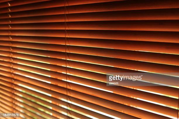 Closeup of window Venetian blinds