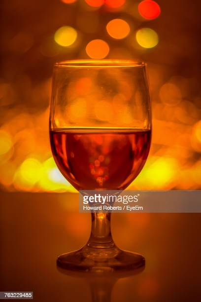 Close-Up Of Wineglass On Table