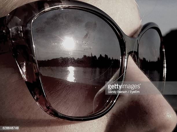 Close-Up Of Woman Wearing Sunglasses