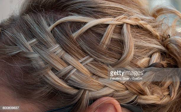 Close-Up Of Woman With Braided Hair