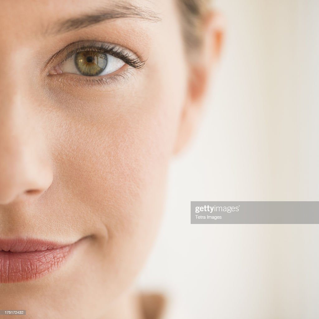 Close-up of woman's face : Foto de stock