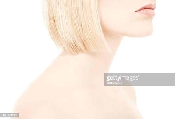 Nahaufnahme des weiblichen Hals und Schultern
