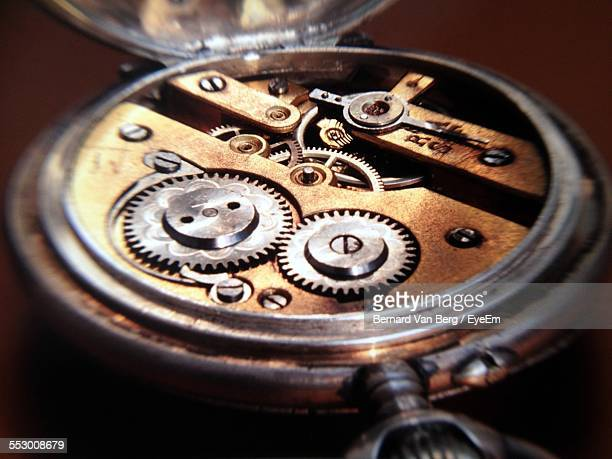 Close-Up Of Wristwatch Machinery