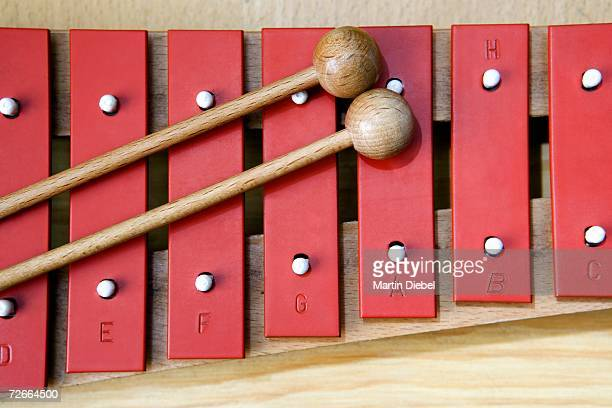 Close-up of xylophone