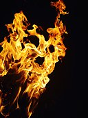 Close-Up Of Yellow Flames
