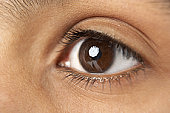 Close-Up Of Young Boy's Eye