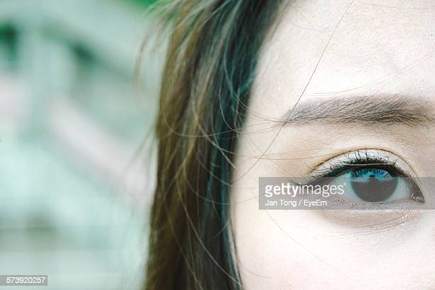 Close-Up Of Young Woman Eye