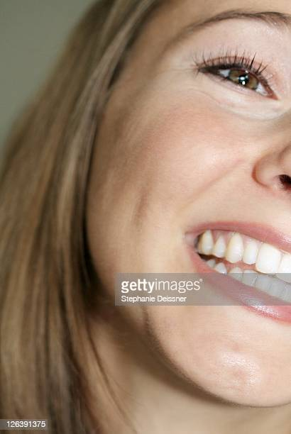 Close-up of young woman smiling