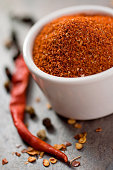 """Handmade spice rub.  Made from smoky dried anaheims, red chilies, white pepper, dry smoked sugar and a few other delicious ingredients.  You can rub it on dry or use it as an ingredient for a zesty m"