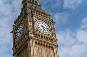 Close-up on the Big Ben in London - international landmarks
