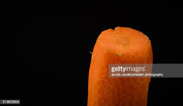 Close-up peeled carrot