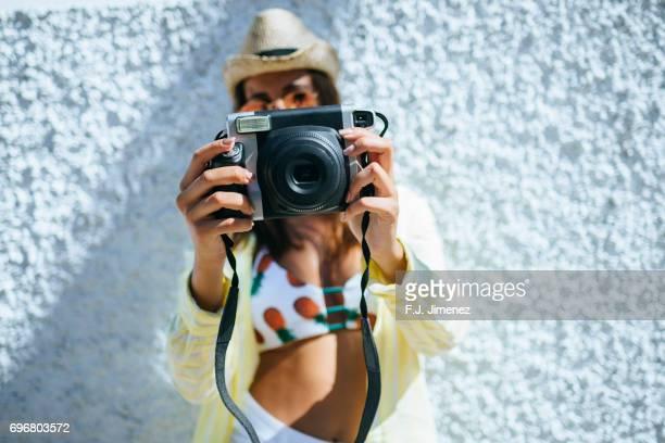 Close-up photo camera