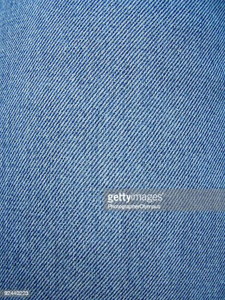 Close-up photo of blue jean texture