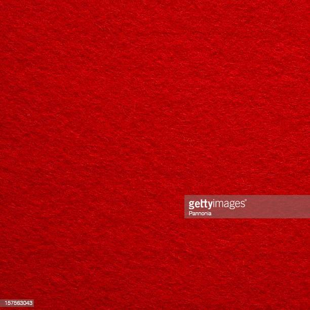Close-up photograph of bright red felt