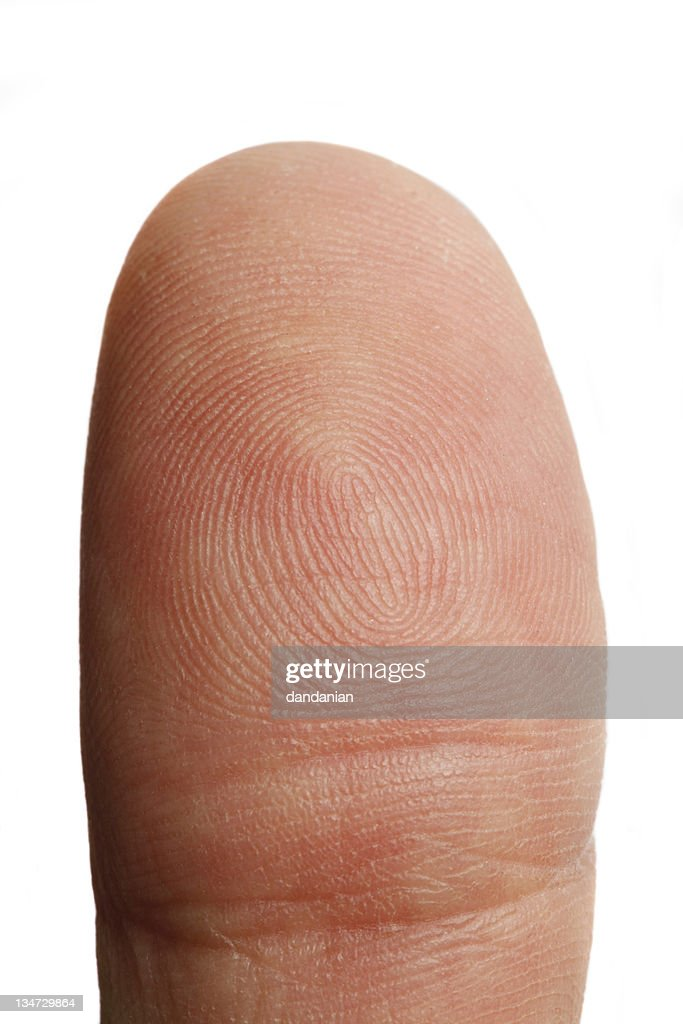 Thumb closeup with clipping path