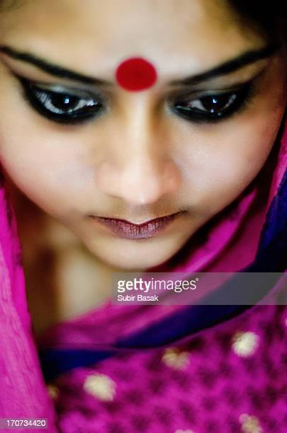 close-up portrait of a beautiful Indian woman