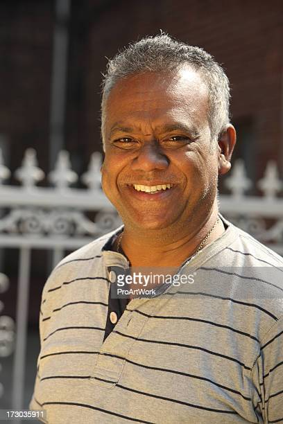 Close-up portrait of a man smiling