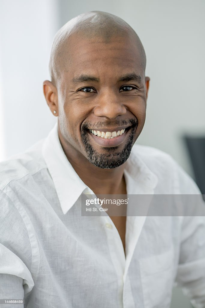 Close-up portrait of a smiling man : Stock Photo