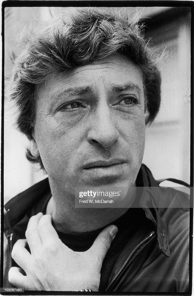 Closeup portrait of American film director Larry Cohen New York New York October 8 1982