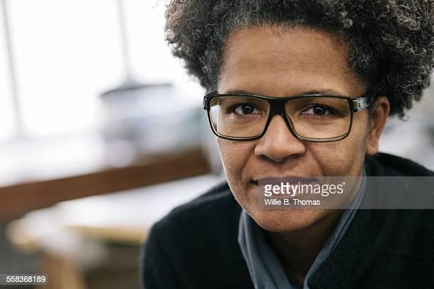 Close-up portrait of black female small business o