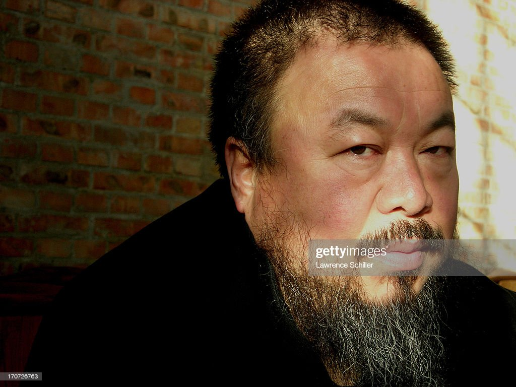 Close-up portrait of Chinese artist and activist <a gi-track='captionPersonalityLinkClicked' href=/galleries/search?phrase=Ai+Weiwei&family=editorial&specificpeople=4331218 ng-click='$event.stopPropagation()'>Ai Weiwei</a> in his home, Beijing, China, 2008.