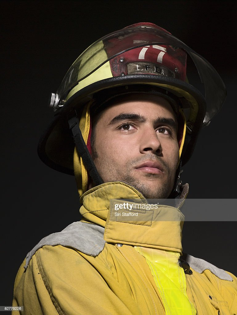 close-up portrait of firefighter