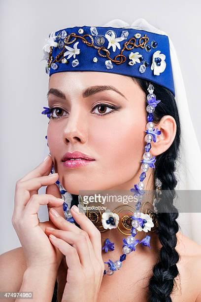 Close-up Ritratto di donna in stile Georgiano