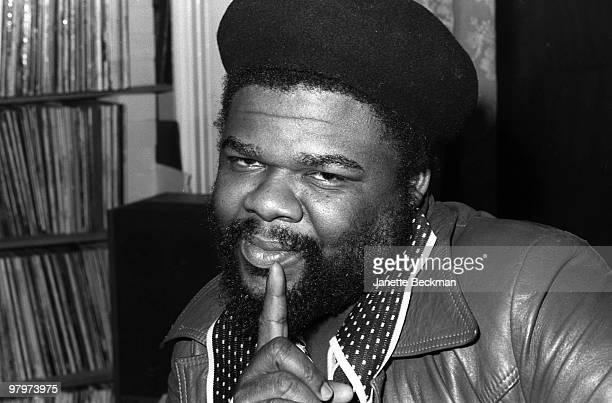 Closeup portrait of Jamaicanborn British reggae producer Fatman London England 1979