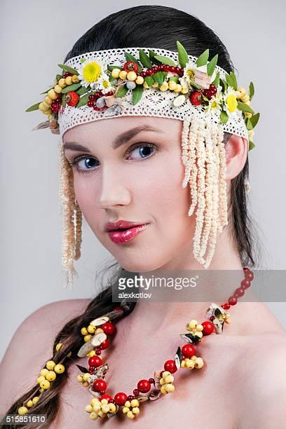クローズアップの肖像ロシアの女性