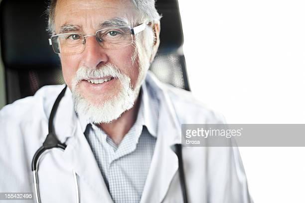 Close-up portrait of senior male doctor