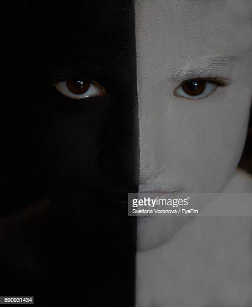 Close-Up Portrait Of Young Woman With Halloween Make-Up
