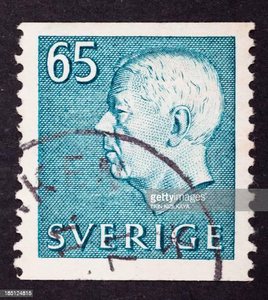 close-up postage stamp, Sweden