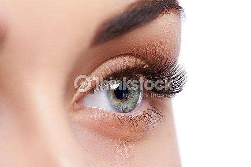 closeup shot of female eye with day makeup ストックフォト thinkstock
