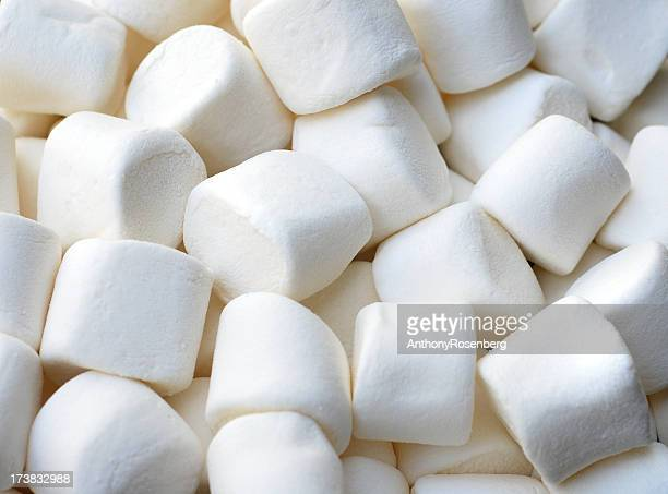 A close-up shot of marshmallows