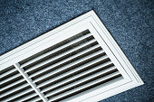 Close-up shot of the vents of an air conditioner