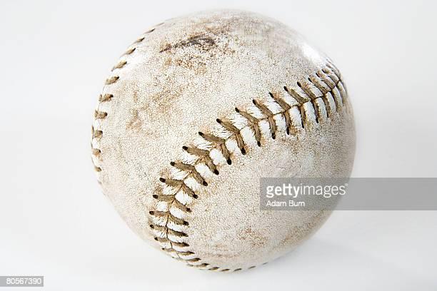 Close-up studio shot of a baseball