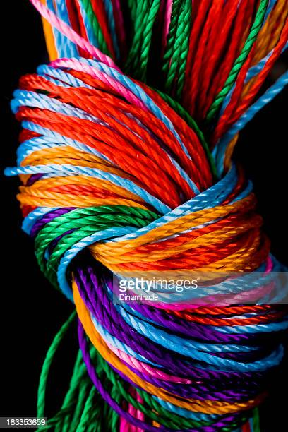 Close-up To Colorful  Knot Vertical