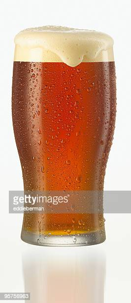 Close-up vector illustration of a glass of cold beer