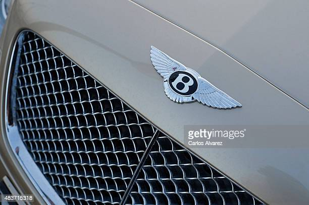 A closeup view of a luxury Bentley car parked in the Portals Port on August 09 2015 in Palma de Malorca Spain Puerto Portals is the most prestigious...