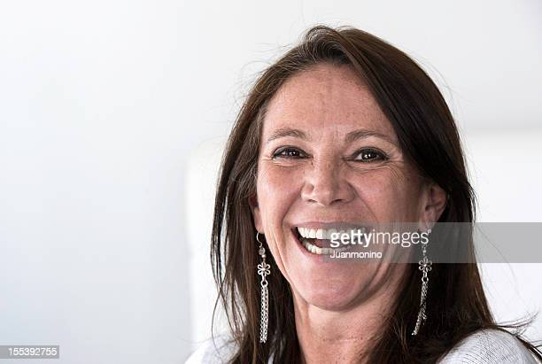 Close-up view of A smiling woman looking at the camera