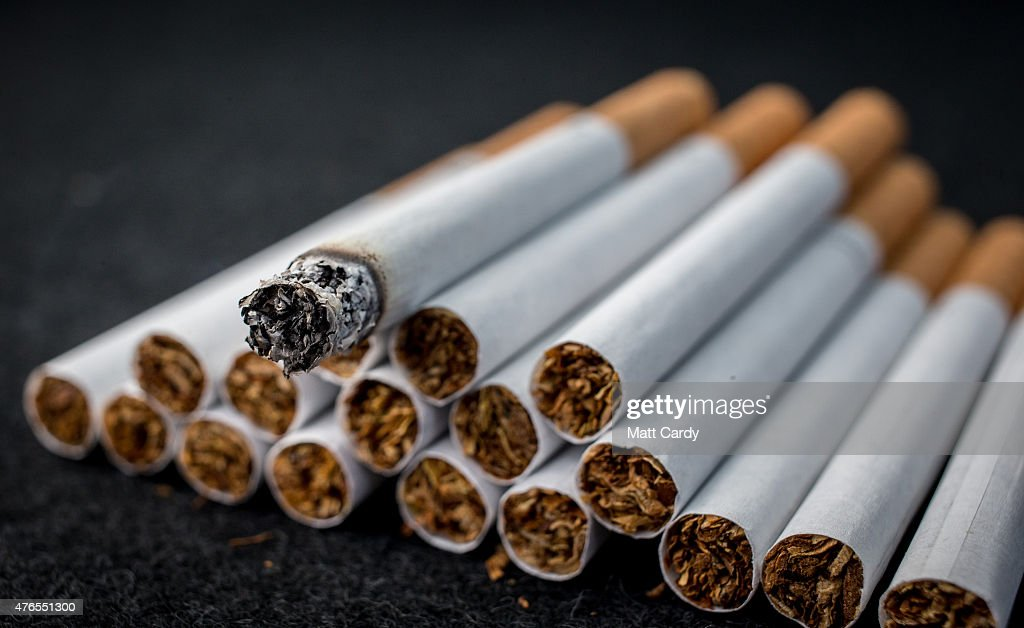 A closeup view of cigarettes on June 10 2015 in Bristol England Health campaigners have asked for a levy on the tobacco industry to help fund...