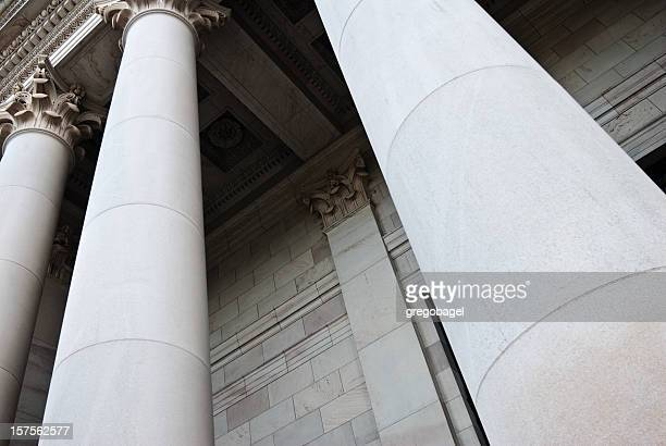 Close-up view of columns at government building