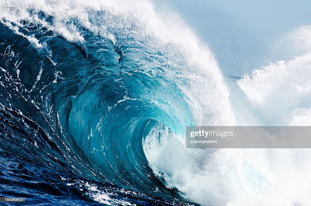 Close-up view of huge ocean waves : Stock Photo