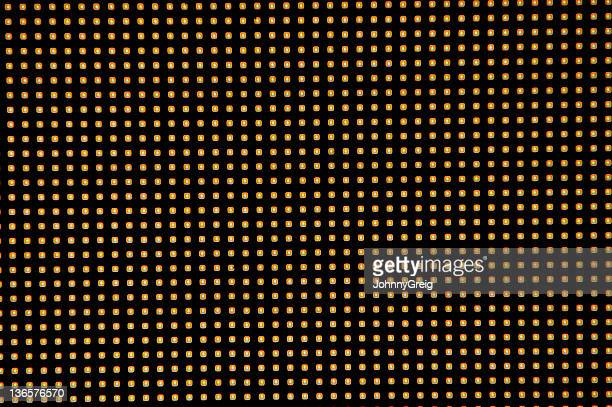 Close-up view of LED lights pattern