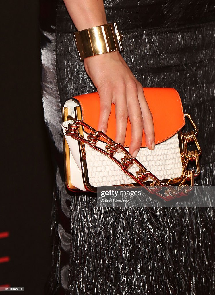 Close-up view of Rachael Taylor's purse at the 9th annual Style Awards during Mercedes-Benz Fashion Week at The Stage at Lincoln Center on September 5, 2012 in New York City.