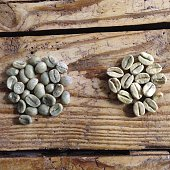 Close-up View Of Raw Coffee Bean