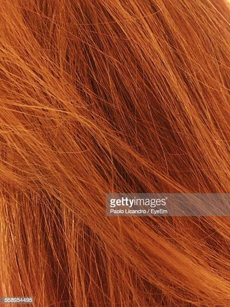 Close-Up View Of Red Headed Woman