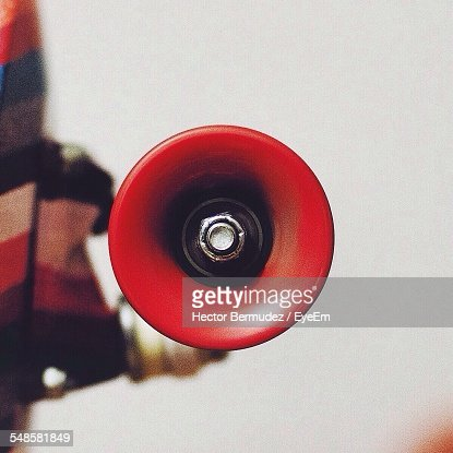Close-Up View Of Red Megaphone